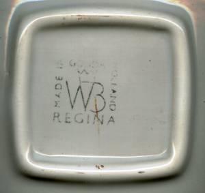 Smoking Item/Decorative Ashtray/Daimler Automobile Transfer Deco/WB Regina-Holland