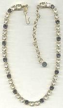 Necklace/Designer Trafari The Real look Clear&Saphire Rhinestone