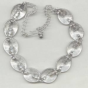 Necklace/Choker/Designer ART/Textured ST  W?Peridot RS