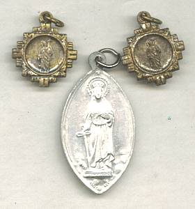 Religious/ ST. Dymphna&2-Tiny Medals