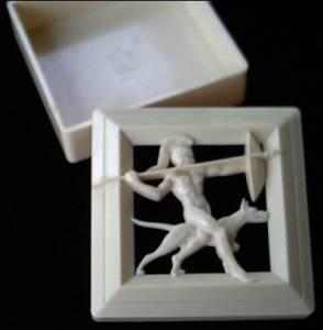 Vanity Item(s)/Men's Plastic Dressing Table Box by Hickock