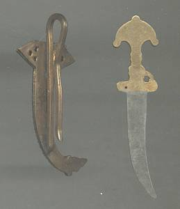 Slide/Hat or Scarf Clip/Damacene Type/Enameled Sword&Scabbard