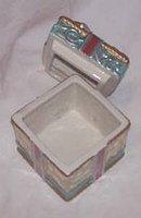 Christmas/Fitz&Floyd Porcilain Gift (Trinket)Box