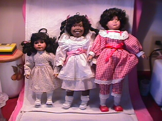 Three Adorable African-American Dynasty Dolls