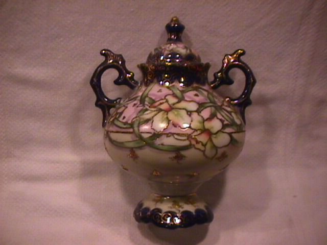 Georgeous Nippon Porcelain Covered Urn