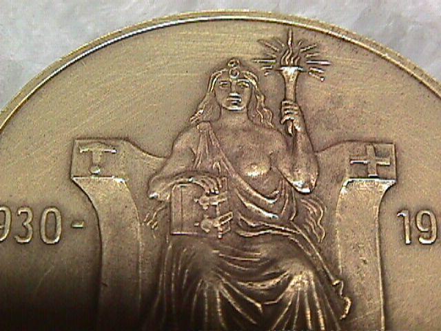 Iceland 1930 Althing Millennium 2 Kronur Commemorative Bronze