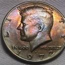 KENNEDY HALF DOLLAR 1972-D TONED CIRCULATED MS-68