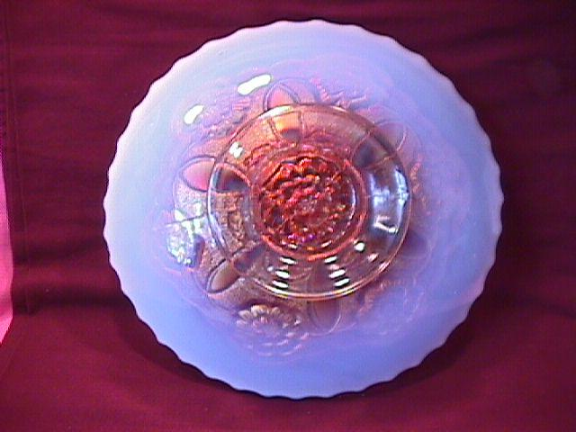 Dugan (Double Stem Rose) Plate (Peach Opalescent)