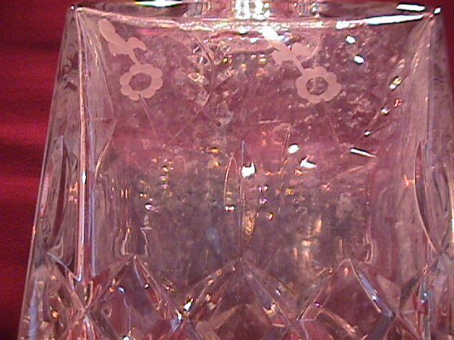 Rogaska Fine Crystal (Gallia) Square Whiskey Bottle