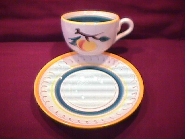 Stangl Potteries (Fruit) Cup & Saucer