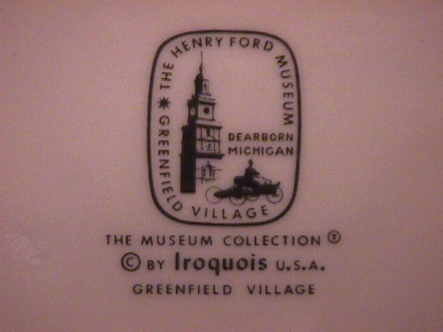 Iroquois Fine China (Greenfield Village) Cake Plate