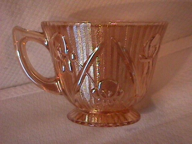 Jeanette Glass Co. (Iris & Herringbone) Cup Only