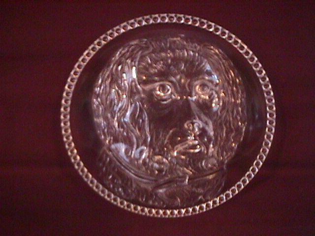 Columbia Glass Co., (Dog Plate) Circa 1880