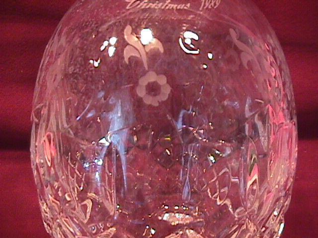 Rogaska Fine Crystal (Gallia) Whiskey Bottle