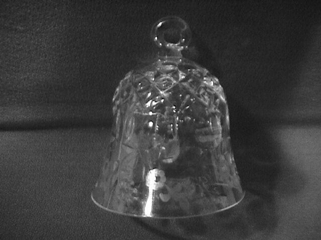 Rogaska Fine Crystal (Gallia) Christmas Ornament Bell