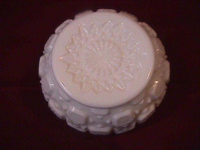 Westmoreland Milk Glass (Heavy Block) Rose Bowl