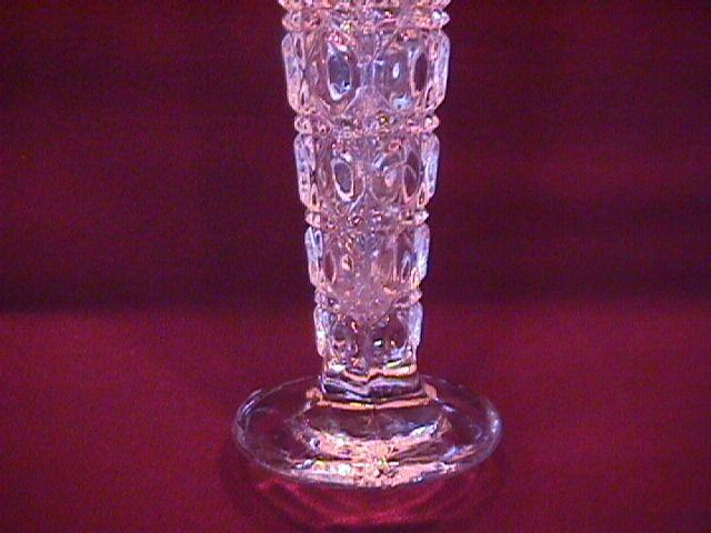 Lead Crystal (Waffle Block) Bud Vase