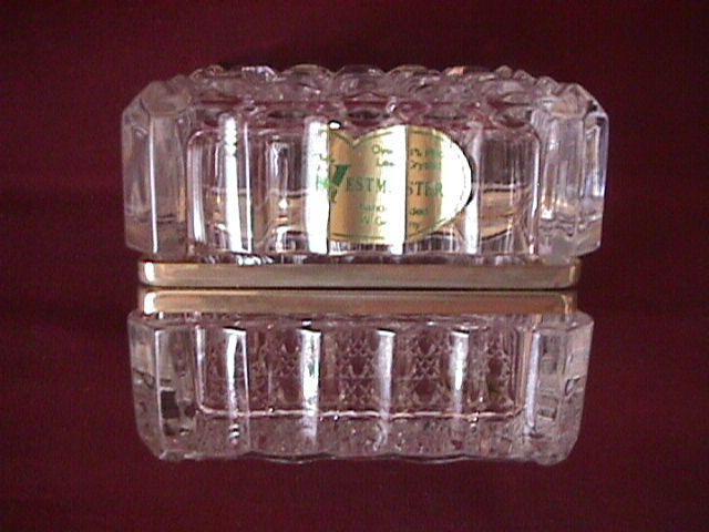 Lead Crystal (Daisy & Button) Jewelry Casket