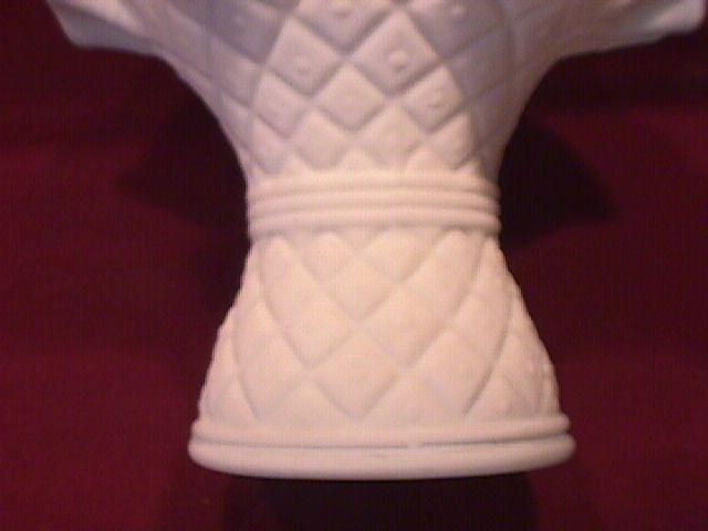 Satin Glass (Diamond Quilted) Vase