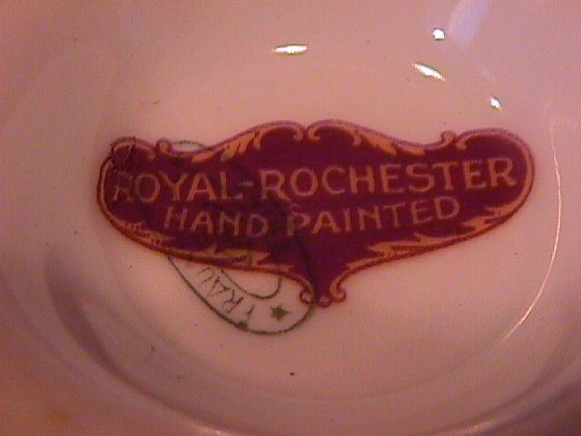 Royal Rochester Hand-Painted Syrup