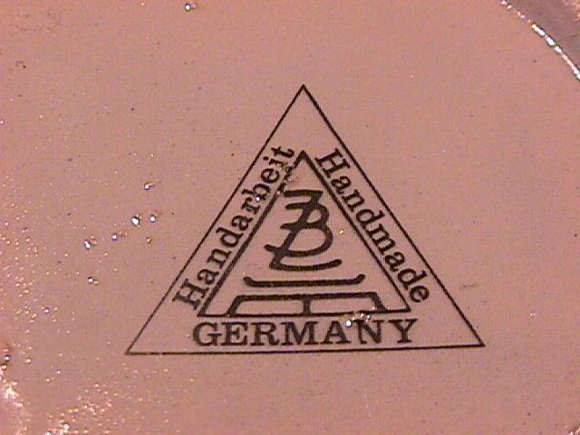 Deutschland Handarbeit Germany Coat of Arms Vase