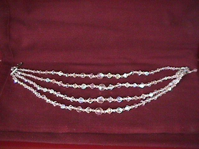 Beautiful Aurora Borialis 4-Strand Necklace