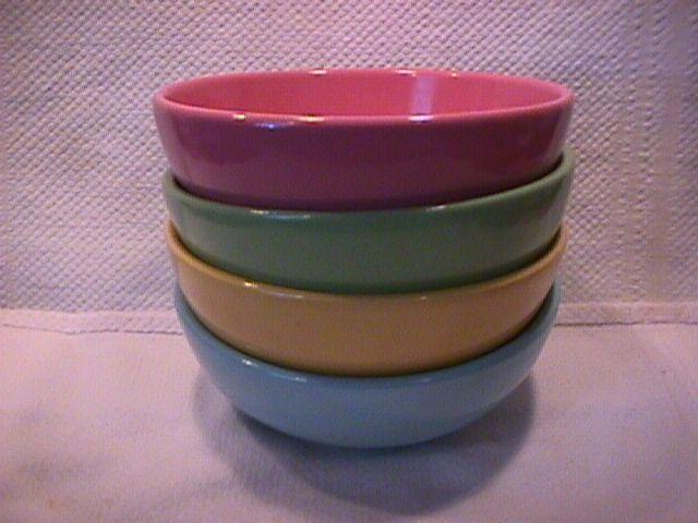 Set of (4) Pastel Cereal Bowls