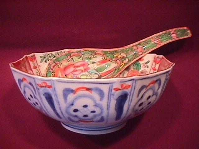 Japanese (Imari) Sauce Bowl & Ladle
