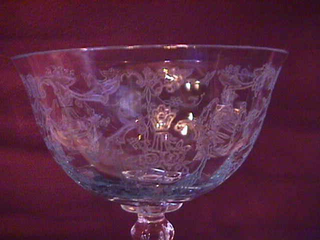 Fostoria Crystal (Navarre Blue) Champagne