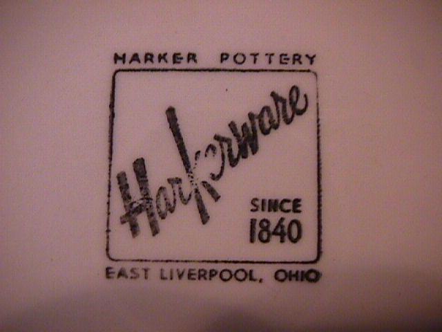 Harkerware (Colonial Lady) Dinner Plate