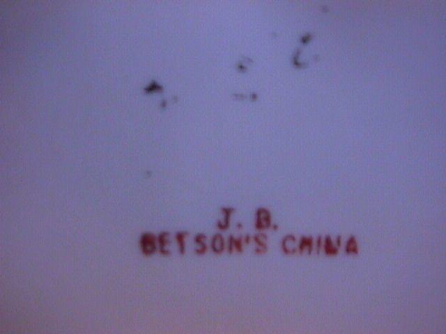 J. B. Betson's Porcelain Center Piece Bowl