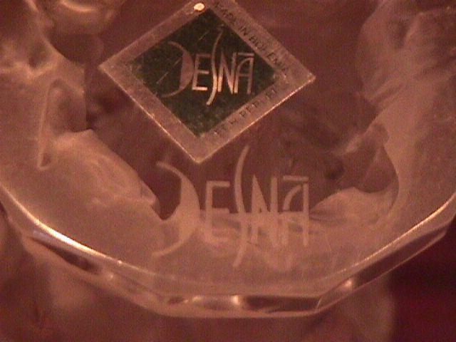 Desna Frosted Art Crystal (Psyche Nudes) Vase