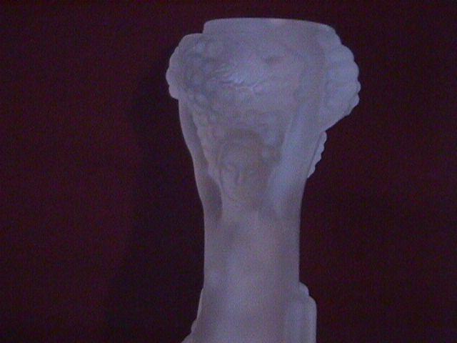Camphor Glass (Psyche-Goddess of Wine) Candlestick