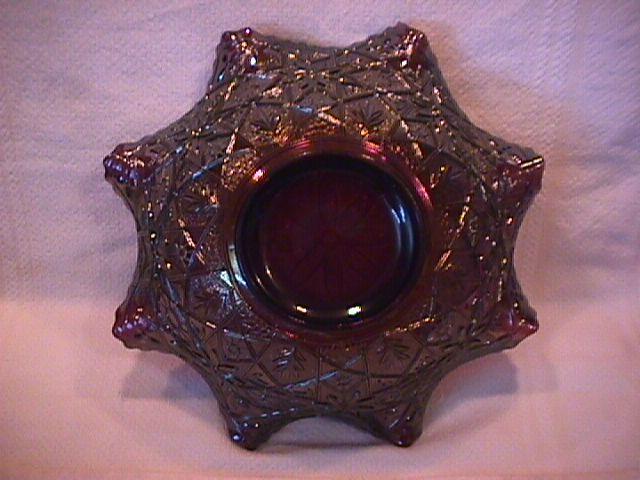 Imperial Carnival Glass (Hattie #495) Bowl-Amethyst