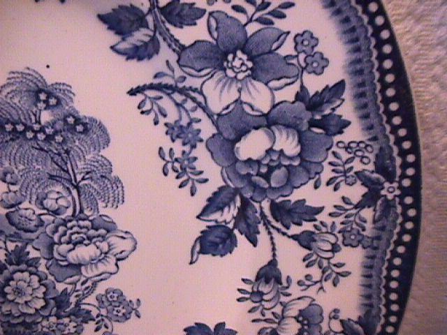 Royal Staffordshire-Clarice Cliff (Tonquin Blue) Dinner Plate