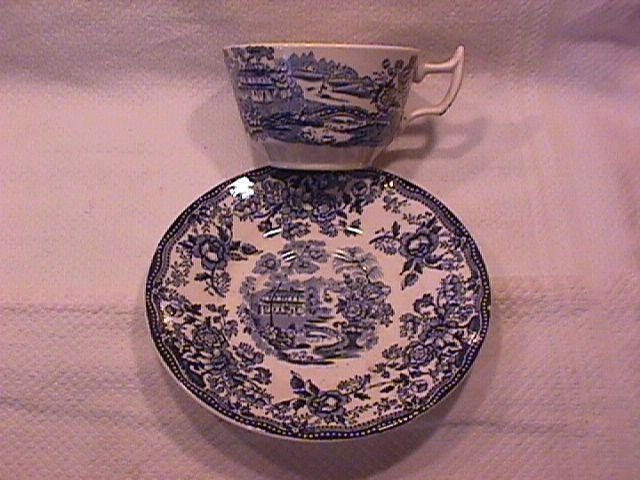 Royal Staffordshire-Clarice Cliff (Tonquin Blue) Cup & Saucer