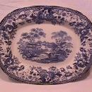 Royal Staffordshire-Clarice Cliff (Tonquin Blue) Roast Platter