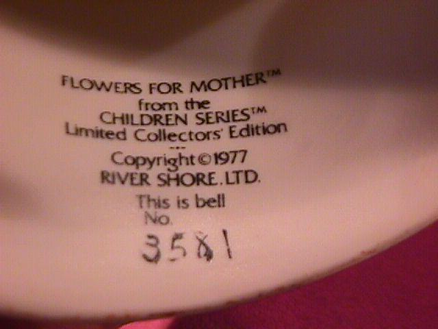 Norman Rockwell=Porcelain Bell (Flowers For Mother )