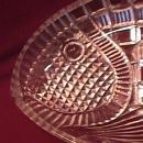 Rare Pressed Glass (Fish) Relish Dish