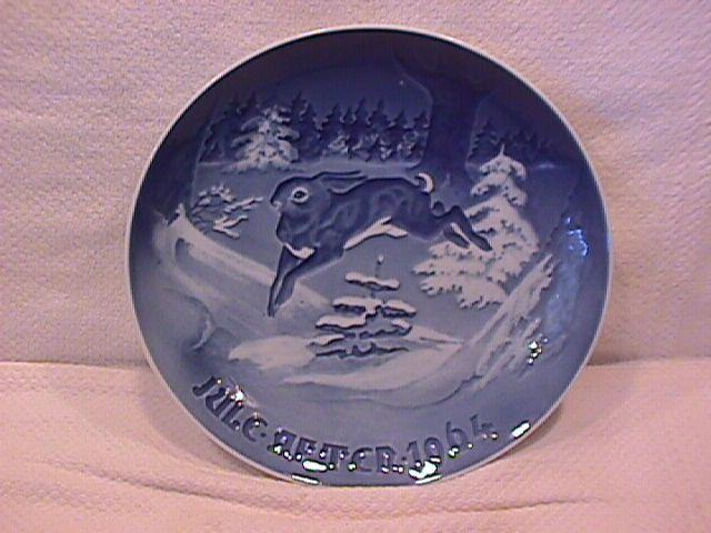 Bing & Grondahl Christmas Plate (The Fir Tree-Hare) 1964
