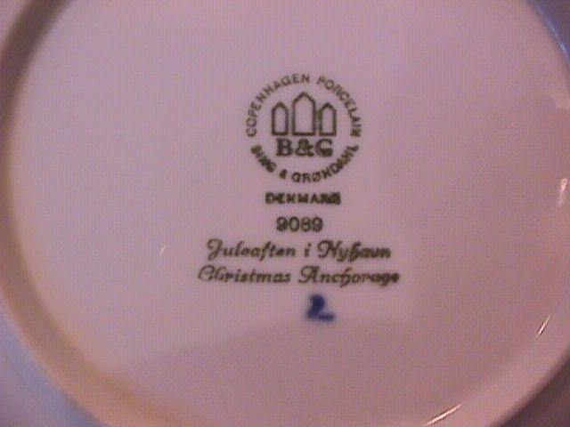 Bing & Grondahl Christmas Plate (Christmas Anchorage ) 1989