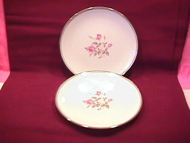Noritake Fine China (Anniversary Rose) #5516 2-Cake Plates