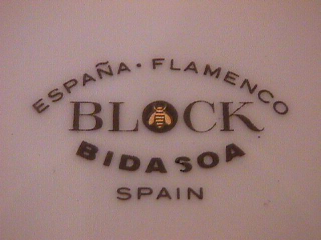 Block Bidasoa (Flamenco) Saucer