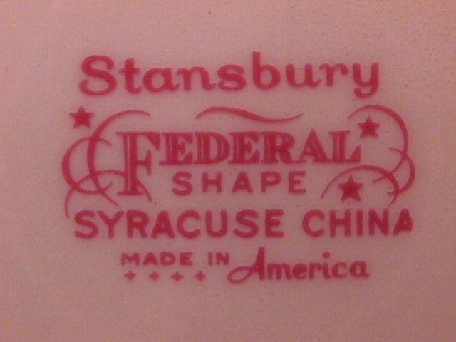 Syracuse China (Stansbury) Oval Vegetable