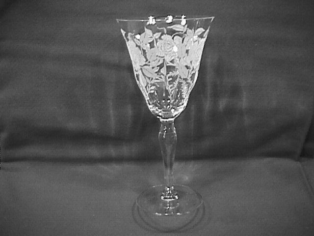 Morgantown Crystal (American Beauty)=#734 Goblet