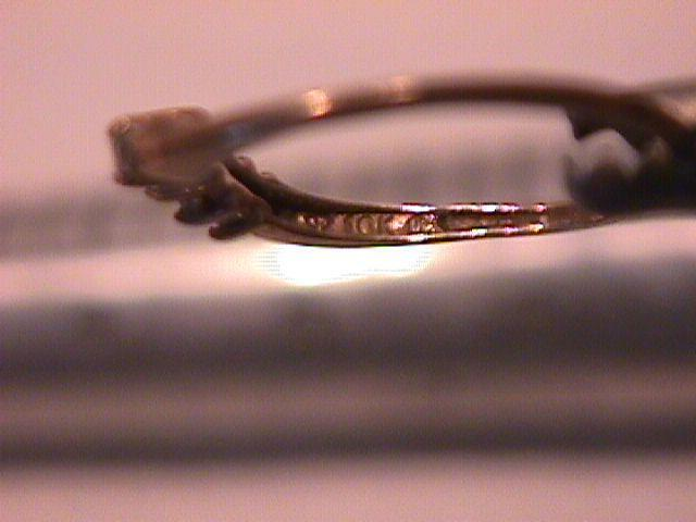 10K Solid Gold & Small Diamond Dainty Ring