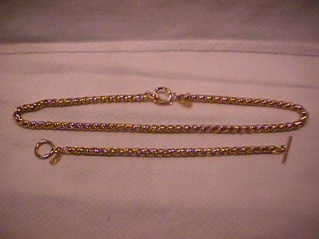 JNY Tagged= Wheat Chain Necklace & Bracelet