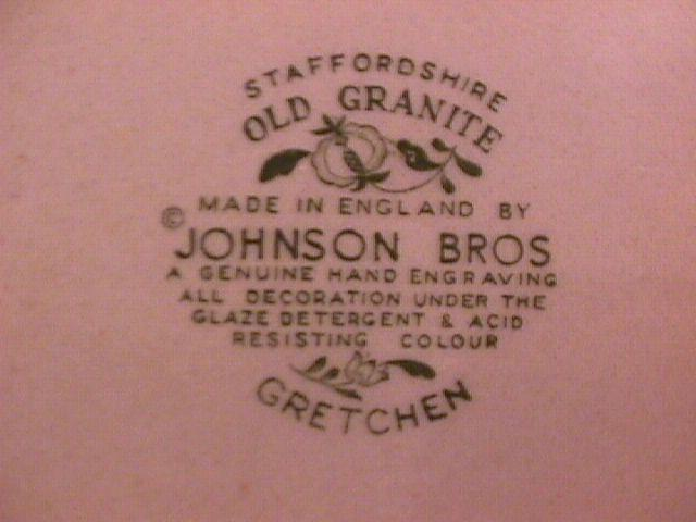 Johnson Brothers (Gretchen)=Green 2-Cake Plates