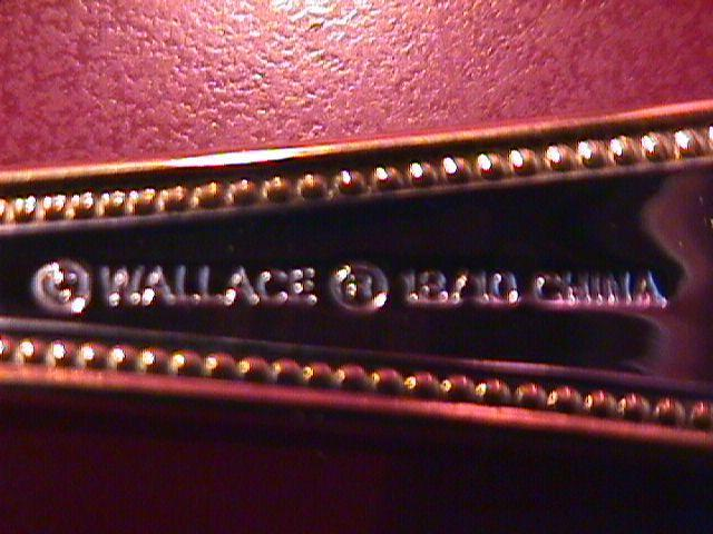 Wallace Stainless (Classic Bead) 18/10-Gold Accented=Cold Meat Fork