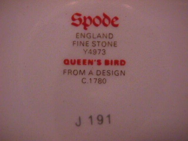 Spode Finestone (Queens Bird) Round Charger